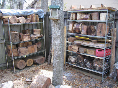 cache of wood
