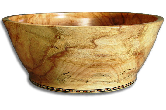 Salad Bowl with Inlaid Base #192