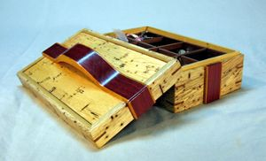 open ribbon box