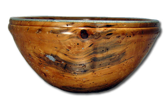 Wormy Bowl with Inlay Rim #232