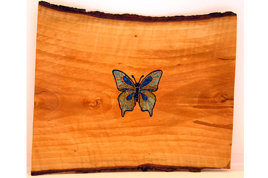 Bradford Pear Butterfly Inlay #271