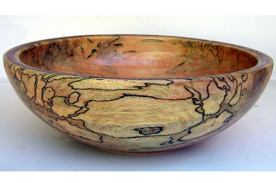 Red Calcite Inlay Bowl #274