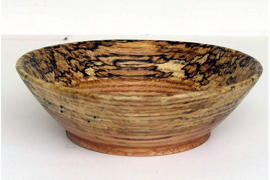 Small Spalted Rim Dish #285