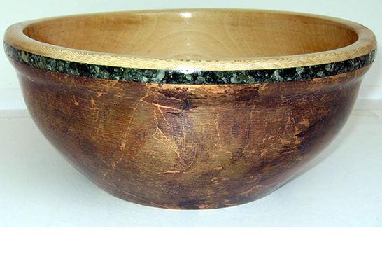 Wood, Metal, Mineral Bowl #294