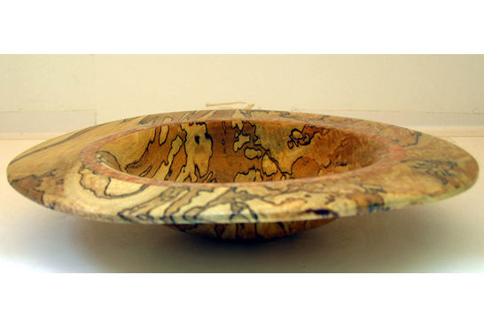 Inlaid Orange Calcite Wide Rim Dish #304
