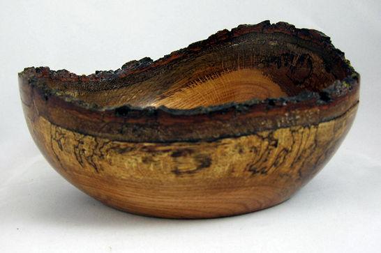 Red Oak Natural Edge Bowl #308