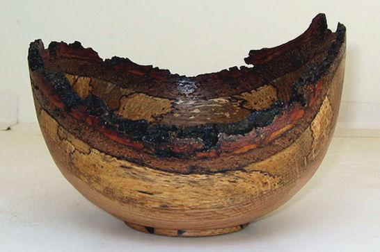 Red Oak Natural Edge Dish #312