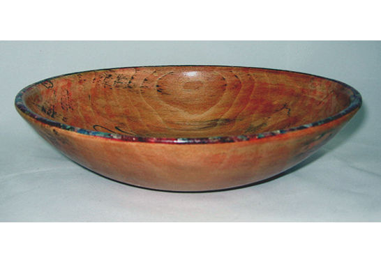 Small Bowl with Multi-color Inlay Rim #316