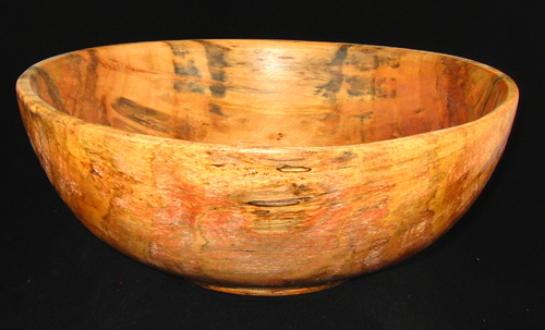 Large Rustic Spalted Willow Bowl #322