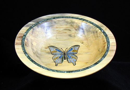 Inlaid Butterfly Bowl #325
