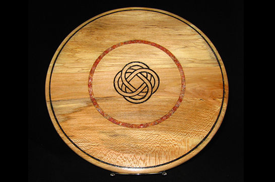Inlaid Mineral Celtic Knot Platter #328