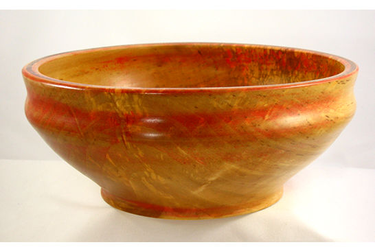 Inlaid Red River Birch Bowl #334