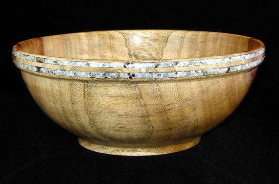 Inlaid Calcite Rim Bowl #337