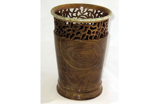 Pierced Inlaid Vase #350