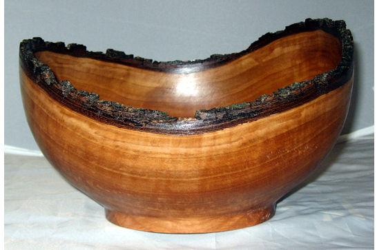 Medium Natural Bark Edge Bowl #370