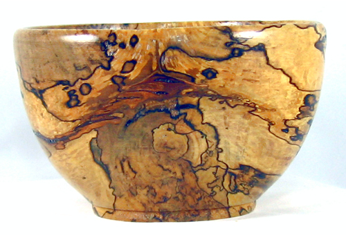 Spalted Maple Rice Bowl 377 Woodpops Woodturning