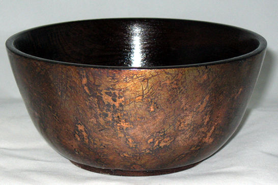 Wood and Copper Rice Bowl #383