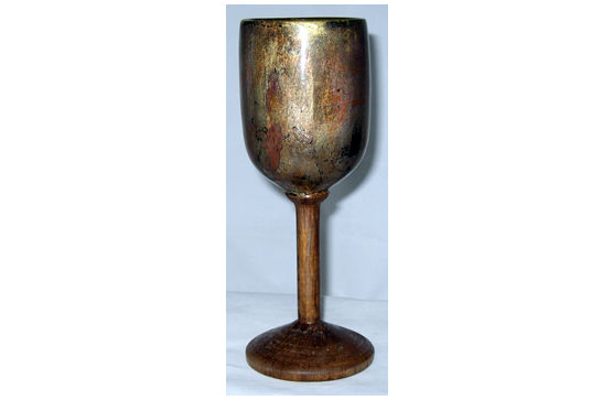 Bronze and Wood Goblet #384