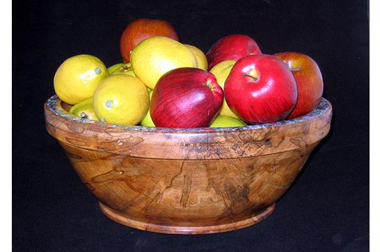 Huge Inlaid Fruit Bowl #390
