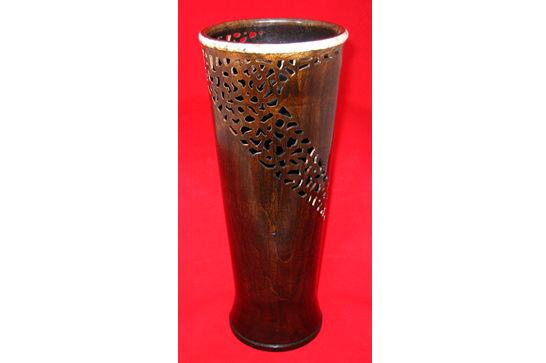 Whirlwind Pierced Vase #393