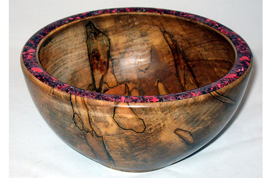 Inlaid Bowl with Striking Figure #402