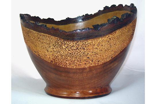 Textured Natural Edge Bowl Piece 422