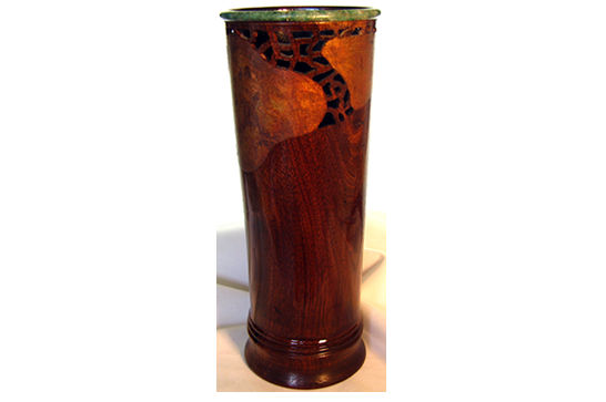 Tall Vase with Crystal Bead #430