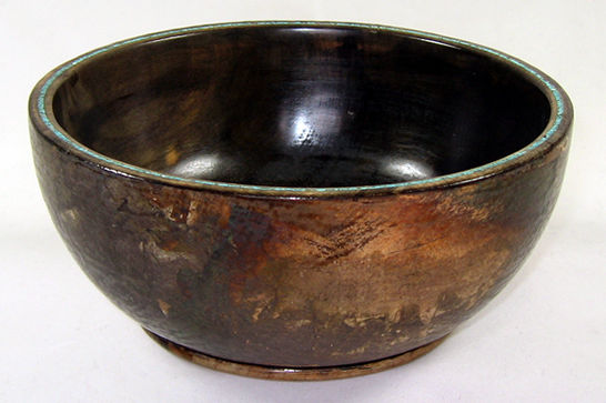 Tarnished Silver Rice Bowl # 450