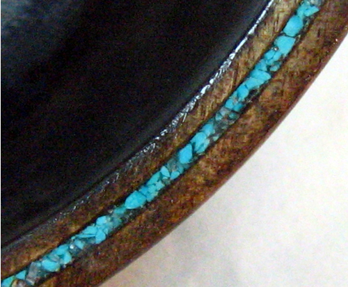 CLOSE UP OF TURQUOISE INLAY