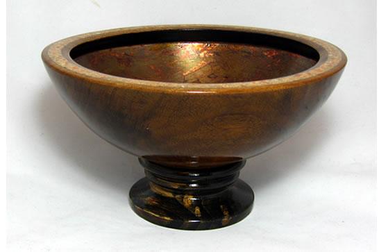 Copper and Calcite Pedestal Bowl # 467