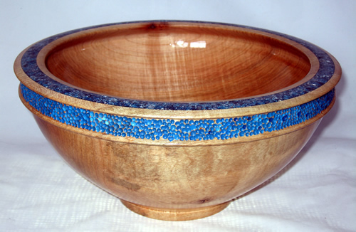Blue Enhanced Salad Bowl # 472