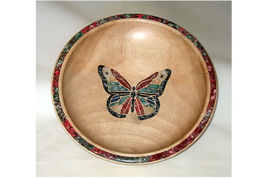 Maple Inlaid Butterfly # 484