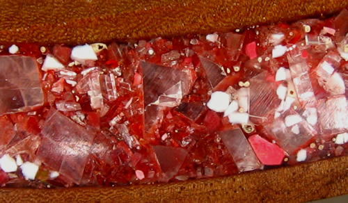 Close up of Calcite Crystal inlay