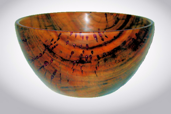 Camphor & Red Calcite Inlay Bowl #532