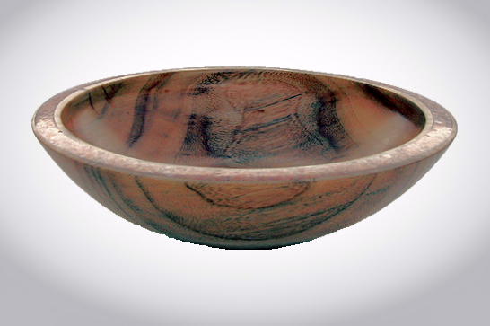 Camphor & Orange Calcite Inlaid Bowl #541