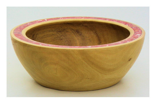 Citrus & Red Calcite Inlaid Bowl #549