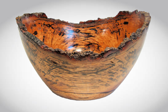Spalted Oak Natural Edge Bowl #561
