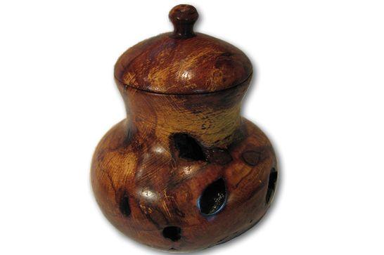 Wormy Oak Lidded Vessel #123