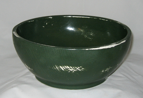Privacy Policy >> Antique Green Milk Painted Bowl #386 | Woodpops Woodturning